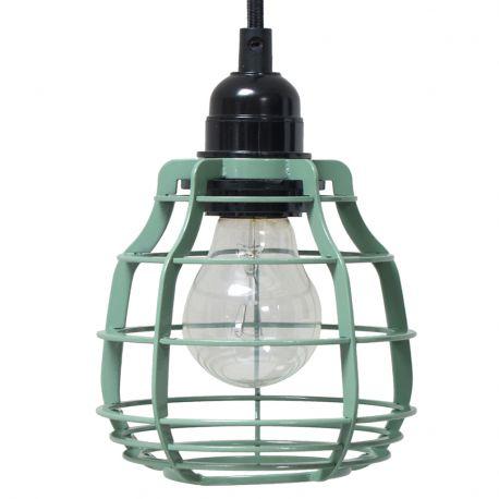 Lampa LAB z włącznikiem, zielona