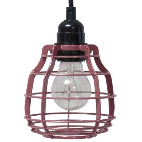 Lampa LAB z włącznikiem, wiśniowa
