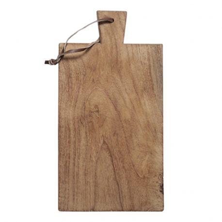 Deska do krojenia z drewna tekowego, średnia
