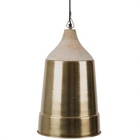 Lampa wisząca WOOD TOP, mosiężna  - Dutchbone