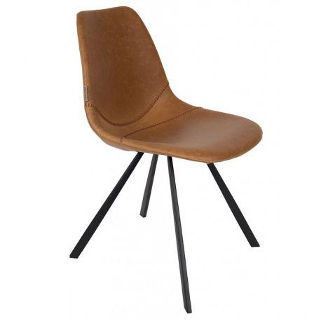 Krzesło FRANKY, brązowe - Dutchbone