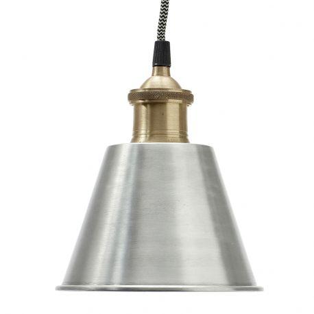 Lampa metalowa, srebrno-złota