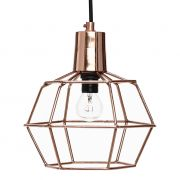 Lampa druciana, kolor miedziany