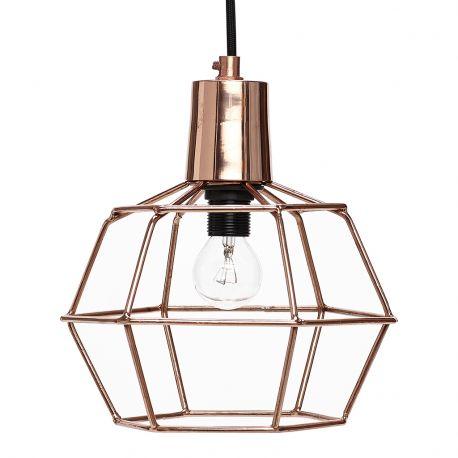 Lampa druciana, kolor miedziany - Hübsch