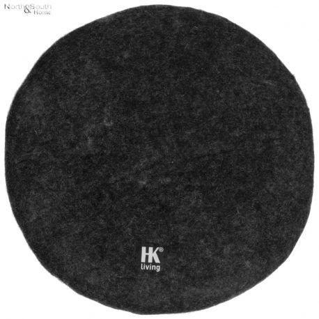 Poduszka na krzesło czarna - HK living