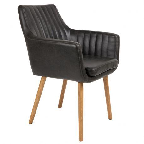 Krzesło PIKE, czarne - White Label Living