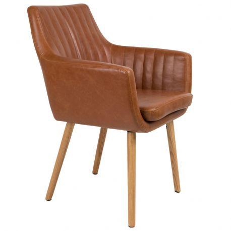 Krzesło PIKE, brązowe - White Label Living