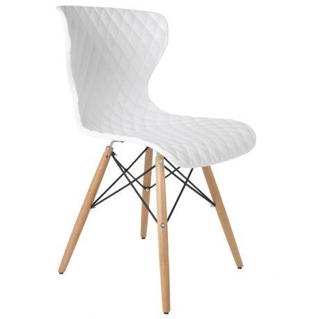 Krzesło CROW, białe  - White Label Living