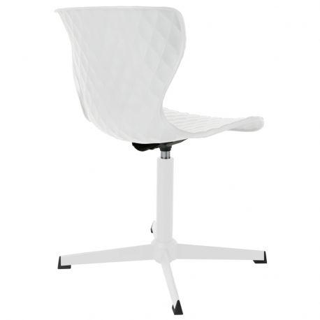 Krzesło CROW METAL, białe - White Label Living