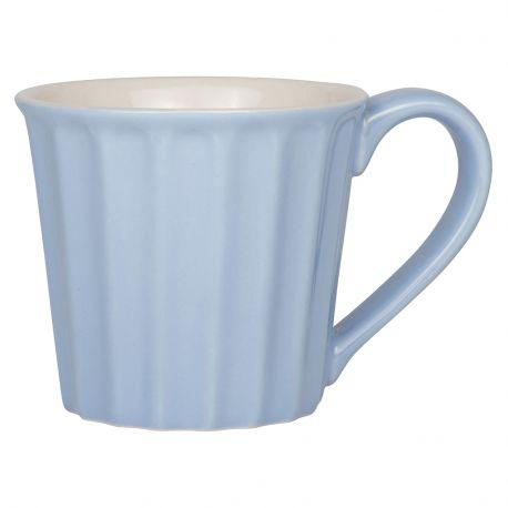 Kubek ceramiczny z uchem, niebieski