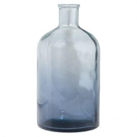 Wazon ze szkła z recyklingu, śr. 12 cm, wys 22 cm