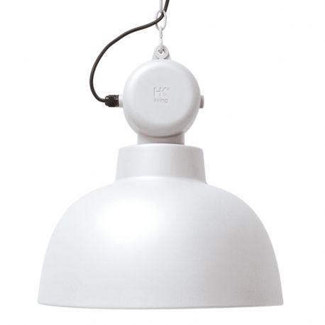 Lampa FACTORY L, biała matowa - HK living