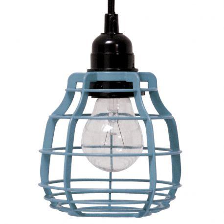 Lampa LAB z włącznikiem, niebieska