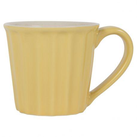 Kubek ceramiczny z uchem, żółty