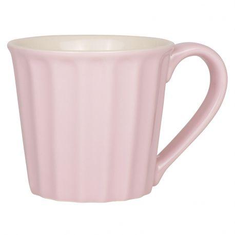 Kubek ceramiczny z uchem, różowy - Ib Laursen
