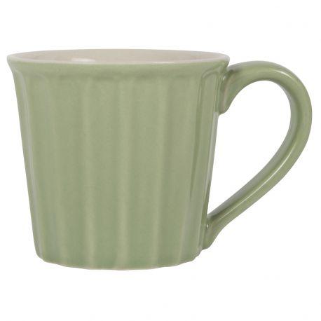 Kubek ceramiczny z uchem, zielony