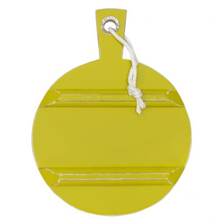 Deska do krojenia, żółta, okrągła, rozmiar S