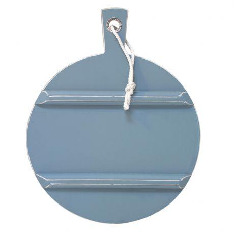 Deska do krojenia, okrągła, niebieska, rozmiar M