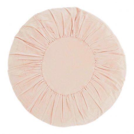 Poduszka welurowa, okrągła, różowa