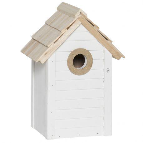 Domek dla ptaków, kolor biały