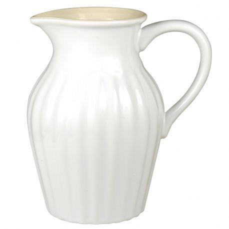 Dzbanek ceramiczny duży, biały
