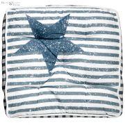 Poduszka na krzesło DEAN, niebieskie pasy