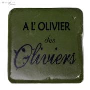 Podkładka pod kubek A L'OLIVIER DES OLIVIERS, ciemna oliwka
