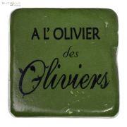 Podkładka pod kubek  A L'OLIVIER DES OLIVIERS, jasna oliwka