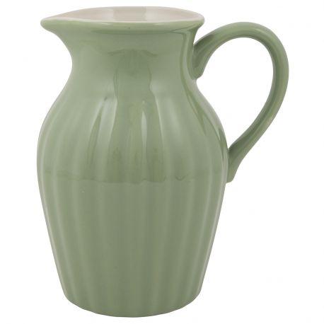 Dzbanek ceramiczny duży, zielony