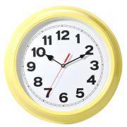 Zegar metalowy w kolorze żółtym