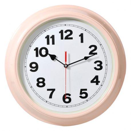 Zegar metalowy w kolorze łososiowym