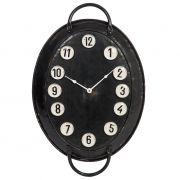 Zegar ścienny owalny, metalowy