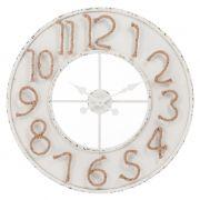 Zegar z cyframi ze sznurka jutowego