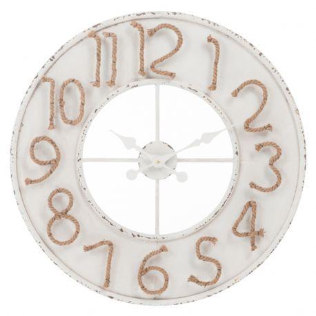 Zegar z cyframi ze sznurka jutowego - J-Line