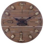 Zegar z cyframi z korków