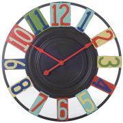 Zegar metalowy z kolorowymi cyframi