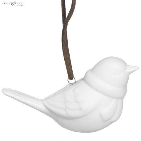 Ozdoba świąteczna PTASZEK ceramiczny -