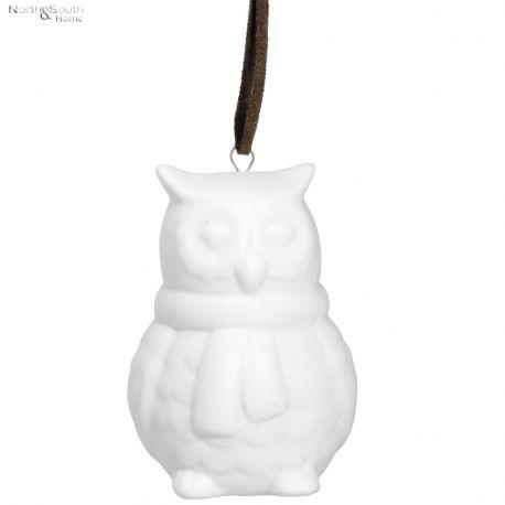 Ozdoba świąteczna SOWA ceramiczna -