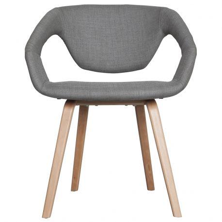 Krzesło FLEX BACK, jasno szary/ jasne nogi - Zuiver