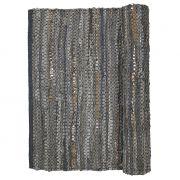 Dywanik skórzano - bawełniany HUGE 60X90, kolor szaro- miedziany