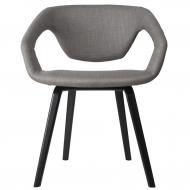 Krzesło FLEX BACK,  jasno szary/ czarne nogi
