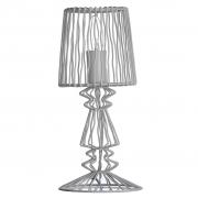 Lampa druciana, biała