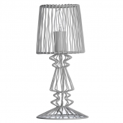 Lampa druciana, biała  - Madam Stoltz