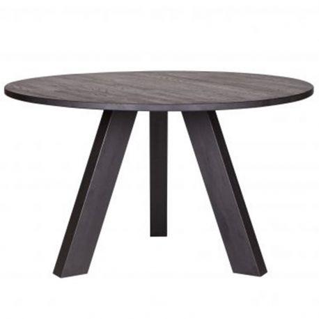 Stół okrągły RHONDA 129 cm, czarny