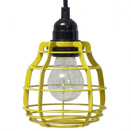 Lampa LAB z włącznikiem, żółta - HK living