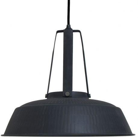 Lampa WORKSHOP L, rustykalna czarna matowa