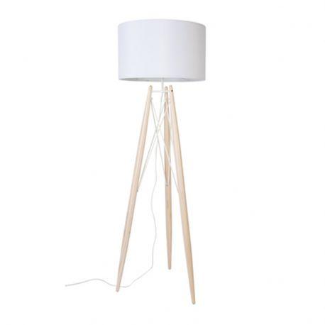Lampa podłogowa EIFFEL, biała - White Label Living