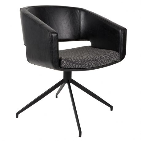 Fotel BEAU czarny - Zuiver