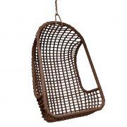 Fotel wiszący, brązowy, do użytku zewnętrznego