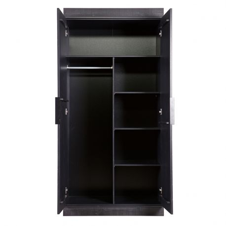 Półki dodatkowe do szafy CONNECT, kolor czarny